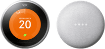 Nest Learning Thermostat V3 + Google Nest Mini White