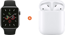 Apple Watch Series 5 40mm Space Gray Black sport Band + Apple AirPods 2