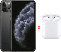 Apple iPhone 11 Pro 256 GB Space Gray + Apple AirPods 2 met oplaadcase