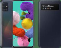 Samsung Galaxy A51 Zwart + Samsung S View Wallet Cover Zwart