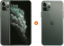 Apple iPhone 11 Pro 256GB Midnight Green + Apple iPhone 11 Pro Clear Case