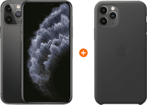 Apple iPhone 11 Pro 64 GB Space Gray + Apple Leather Back Cover