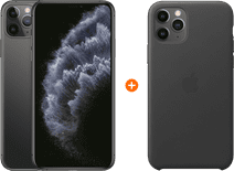 Apple iPhone 11 Pro Max 256GB Space Gray + Apple iPhone 11 Pro Max Leather Back Cover