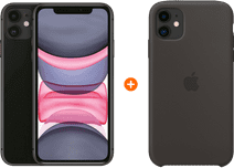Apple iPhone 11 64GB Black + Apple iPhone 11 Silicone Back Cover Black