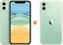 Apple iPhone 11 128GB Green + Apple iPhone 11 Clear Case