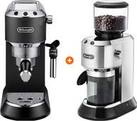 De'Longhi EC685.BK Dedica Zwart + Koffiemolen