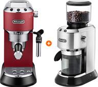 De'Longhi EC685.R Dedica Red + Coffee Grinder