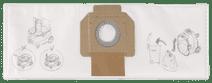 Makita Dust Bag Fleece for VC4210 (5 units)