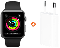 Apple Watch Series 3 38mm Space Gray Aluminum/Black + Apple USB Power Adapter
