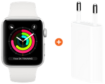 Apple Watch Series 3 38mm Silver Aluminum/White + Apple USB Power Adapter