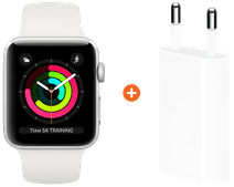 Apple Watch Series 3 42mm Silver Aluminum/White + Apple USB Power Adapter