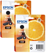 Epson 33XL Cartridge Zwart Duo Pack