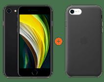 iPhone SE 128 GB Zwart + Apple iPhone SE Leather Back Cover