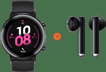Huawei Watch GT 2 Stainless Steel Black 42mm + Freebuds 3 Black