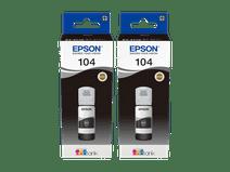 Epson 104 Inktflesjes Zwart Duo Pack