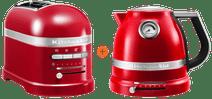 KitchenAid Artisan Toaster Empire Red + KitchenAid Artisan Kettle Empire Red