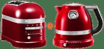 KitchenAid Artisan Toaster Apple Red + KitchenAid Artisan Kettle Apple Red