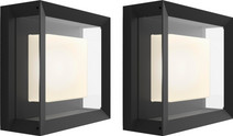 Philips Hue Econic Wall Lamp Modern Outdoors Duo Pack
