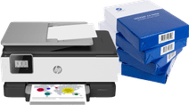 HP OfficeJet 8017 + Instant Ink + A4 papier