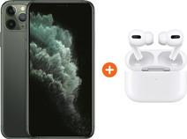 Apple iPhone 11 Pro Max 256 GB Midnight Green + Apple AirPods Pro met Draadloze Oplaadcase