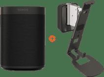 Sonos One + Vogel's Sound Wall Mount Black