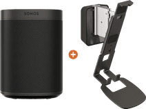 Sonos One SL + Vogels Sound Muurbeugel Zwart