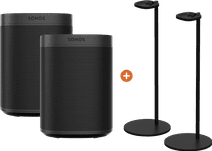 Sonos One SL Duopack + Sonos Speaker Standaard Paar Zwart