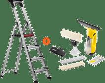Altrex Double Decker Household Ladder 4 Steps + Kärcher WV 2 Versitality