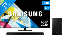 Samsung QLED 75Q80T + Soundbar
