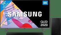 Samsung QLED 75Q64T + Soundbar