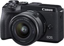Canon EOS M6 Mark II Zwart + 15-45mm + EVF-DC2
