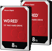 WD Red WD80EFAX 8TB Duo Pack - RAID 0 or 1