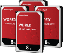 WD Red WD80EFAX 8TB 4-pack - RAID 0, 1, 5, 6 of 10