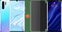 Huawei P30 Pro 128GB White/Purple + P30 Pro View Flip Cover Book Case Black
