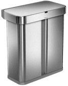Simplehuman Liner Pocket Voice Control Recycler 24+34L Metal