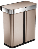 Simplehuman Liner Pocket Voice Control Recycler 24+34L Rose Gold