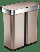 Simplehuman Liner Pocket Voice Control Recycler 24+34 liter Rosé Goud