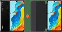 Huawei P30 Lite 128GB Black + P30 Lite View Flip Cover Book Case Black
