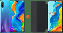 Huawei P30 Lite 128GB Blue + P30 Lite View Flip Cover Book Case Black