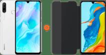 Huawei P30 Lite 128GB White + P30 Lite View Flip Cover Book Case Black