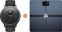 Withings Steel HR Sport Zwart + Withings Body + Zwart