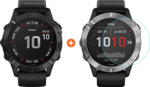 Garmin Fenix 6X Pro - Black - 51mm + Just in Case Fenix 6X Pro 51mm Screen Protector
