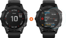 Garmin Fenix 6 Pro - Black - 47mm + Just in Case Garmin Fenix 6 Pro 47mm Screen Protector