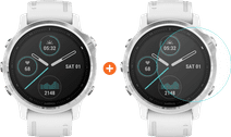 Garmin Fenix 6S - White - 42mm + Just in Case Garmin Fenix 6S 42mm Screen Protector Glass