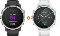 Garmin Fenix 6S - Black - 42mm + Just in Case Garmin Fenix 6S 42mm Screen Protector Glass