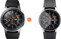 Samsung Galaxy Watch 46mm Silver + PanzerGlass Samsung Galaxy Watch 46mm Screenprotector G