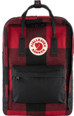 """Fjällräven Kånken Re-Wool 15"""" Red-Black 18L"""
