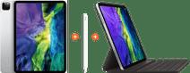 Apple iPad Pro (2020) 11 inch  Zilver + Smart Keyboard + Pencil