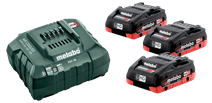 Metabo 18V 4.0Ah battery (3x) + Battery Charger