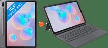 Samsung Galaxy Tab S6 128GB Wifi + 4G Grijs + Samsung Toetsenbord Hoes QWERTY Grijs
